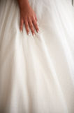 Deatail of the bride hand Royalty Free Stock Photography