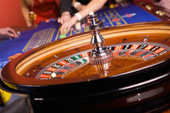 Deatail of casino roulette Stock Photos
