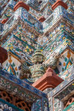 Deatail of the Central  Pagoda at Wat Arun - the Temple of Dawn in Bangkok Royalty Free Stock Images