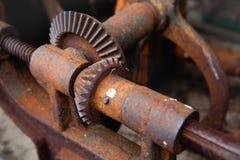 Deatail del engranaje oxidado Foto de archivo libre de regalías