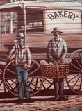 Deatail väggmålning Belgrave Victoria Arkivbild