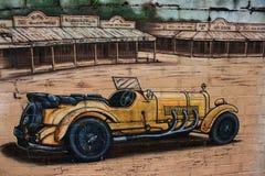 Deatail väggmålning Belgrave Victoria Royaltyfri Foto