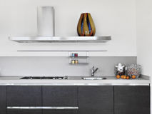 Deatail van moderne keuken Stock Foto