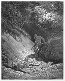 The death of Abel. Picture from The Holy Scriptures, Old and New Testaments books collection published in 1885, Stuttgart-Germany. Drawings by Gustave Dore