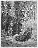 Death of Athaliah. Picture from The Holy Scriptures, Old and New Testaments books collection published in 1885, Stuttgart-Germany. Drawings by Gustave Dore royalty free illustration