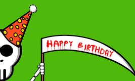 Death birthday. An illustration of a happy birthday card Vector Illustration