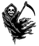 Death. Black and white illustration of Death Grim Reaper royalty free illustration