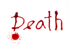 Death - bloody words Stock Image