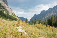 Death Canyon in Grand Teton National Park. A beautiful view in Death Canyon in Grand Teton National Park royalty free stock image