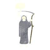 Death cartoon with speech bubble royalty free illustration