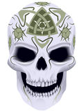 Death with celtic a tattoo. Skull a symbol of death with celtic a tattoo in a vector royalty free illustration