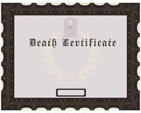 Death Certificate Stock Images