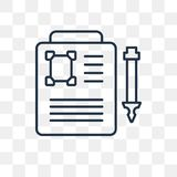 Death certificate vector icon isolated on transparent background royalty free illustration