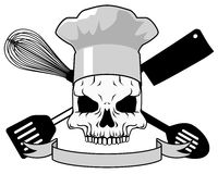 Death chef tattoo design Stock Photography