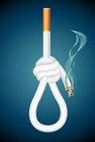 Death from Cigarette Royalty Free Stock Images
