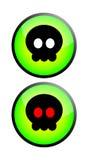 Death or danger. Button vector illustration