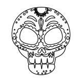 Death day mask celebration. Vector illustration design stock illustration