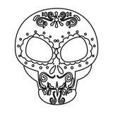 Death day mask celebration. Vector illustration design vector illustration