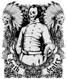 Death delaer. Vector illustration ideal for printing on apparel clothes Royalty Free Stock Images