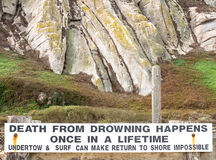 Death from drowning Stock Images