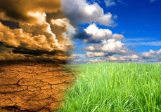 Death earth and beautiful landscape Royalty Free Stock Images