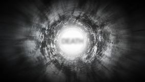 Death at the end of a dark tunnel.  stock footage