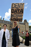 Death of Evidence March in Ottawa Royalty Free Stock Photography