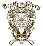 Death or glory. Vector illustration ideal for printing on apparel clothes Stock Photo