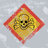 Death hazard grunge sign. Acute toxicity. Stock Photos