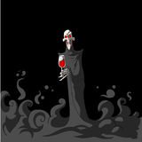 Death holding a glass of wine Royalty Free Stock Photos