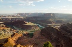 Death Horse Point State Park - USA, Utah. Viev of the canyon The Colorado River from Death Horse Point State Park, USA, Utah Royalty Free Stock Photos