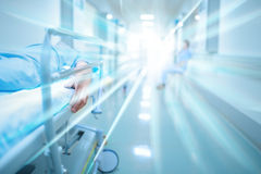 Death in hospital corridor. Dead patient in hospital corridor royalty free stock photos
