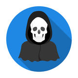 Death icon in flat style isolated on white background. Funeral ceremony symbol stock vector illustration. Stock Photo