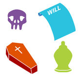 Death Icons Stock Image
