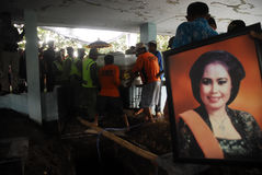 THE DEATH OF INDONESIA'S TOP COMEDIAN Stock Image
