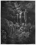The Death of Jesus. Picture from The Holy Scriptures, Old and New Testaments books collection published in 1885, Stuttgart-Germany. Drawings by Gustave Dore