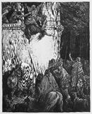 The Death of Jezebel. Picture from The Holy Scriptures, Old and New Testaments books collection published in 1885, Stuttgart-Germany. Drawings by Gustave Dore stock illustration