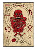 death La carte de tarot Photo libre de droits