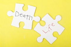 Death and Life words Stock Photos