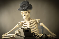 Death Making a Phone Call Royalty Free Stock Photos