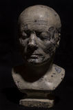 Death Mask. Victorian plaster cast death mask heads Stock Photo