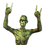 Death Metal. 3d rendering a creature as illustration with metal greeting in zombie style Royalty Free Stock Photography