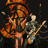 Death Metal. 3d rendering of a death metal scene as an illustration Royalty Free Stock Photo