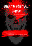Death Metal show poster with skull. Stock Photo