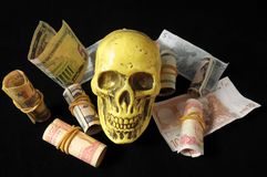 Death and Money Concept Royalty Free Stock Photos