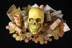 Death and Money Concept Royalty Free Stock Images