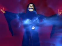 Death And Moon 4. An image of death against a moonlight sky Stock Photography