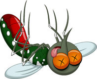 Death mosquito cartoon Stock Photography