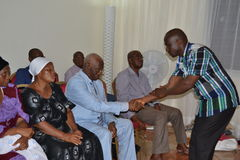 DEATH OF MOTHER OF ACTING CHAIRMAN OF CHALLENGING PEOPLE FRONT IVOIRIAN, FROM THE PRESIDENT LAURENT GBAGBO Stock Images