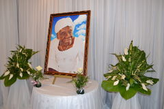 DEATH OF MOTHER OF ACTING CHAIRMAN OF THE POPULAR FRONT IVOIRIAN, FROM THE PRESIDENT LAURENT GBAGBO.CONTESTE BY THE SYSTEM IN PLAC Stock Photos